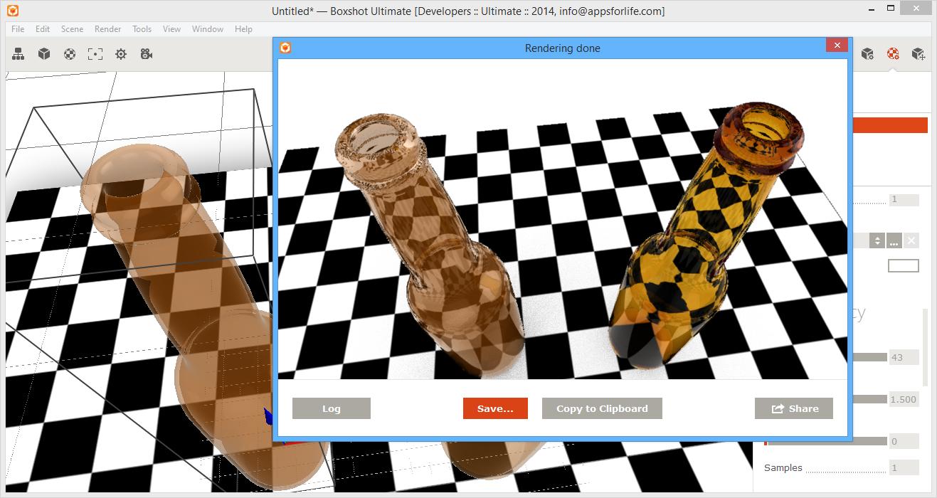 Glass Materials In Boxshot 4 Tutorial