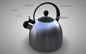 Kettle with callouts and metadata